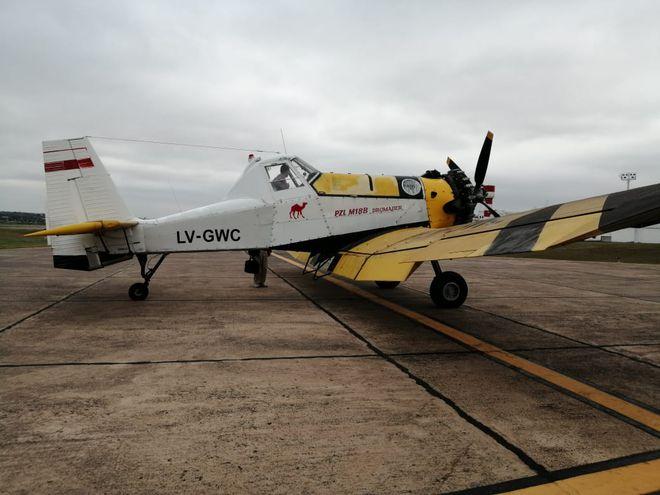 Una de las aeronaves que llego al Pais